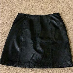 Wilson Real Leather Skirt Size 6.